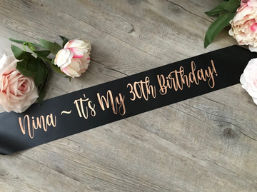 Personalised 30th Birthday Sash